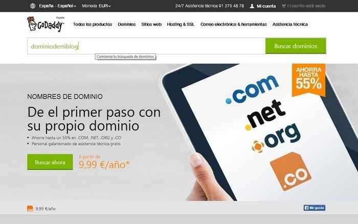 Comprar dominio para blogger
