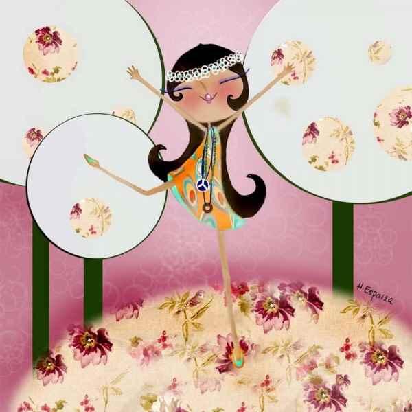 De flor en flor, ilustraciones