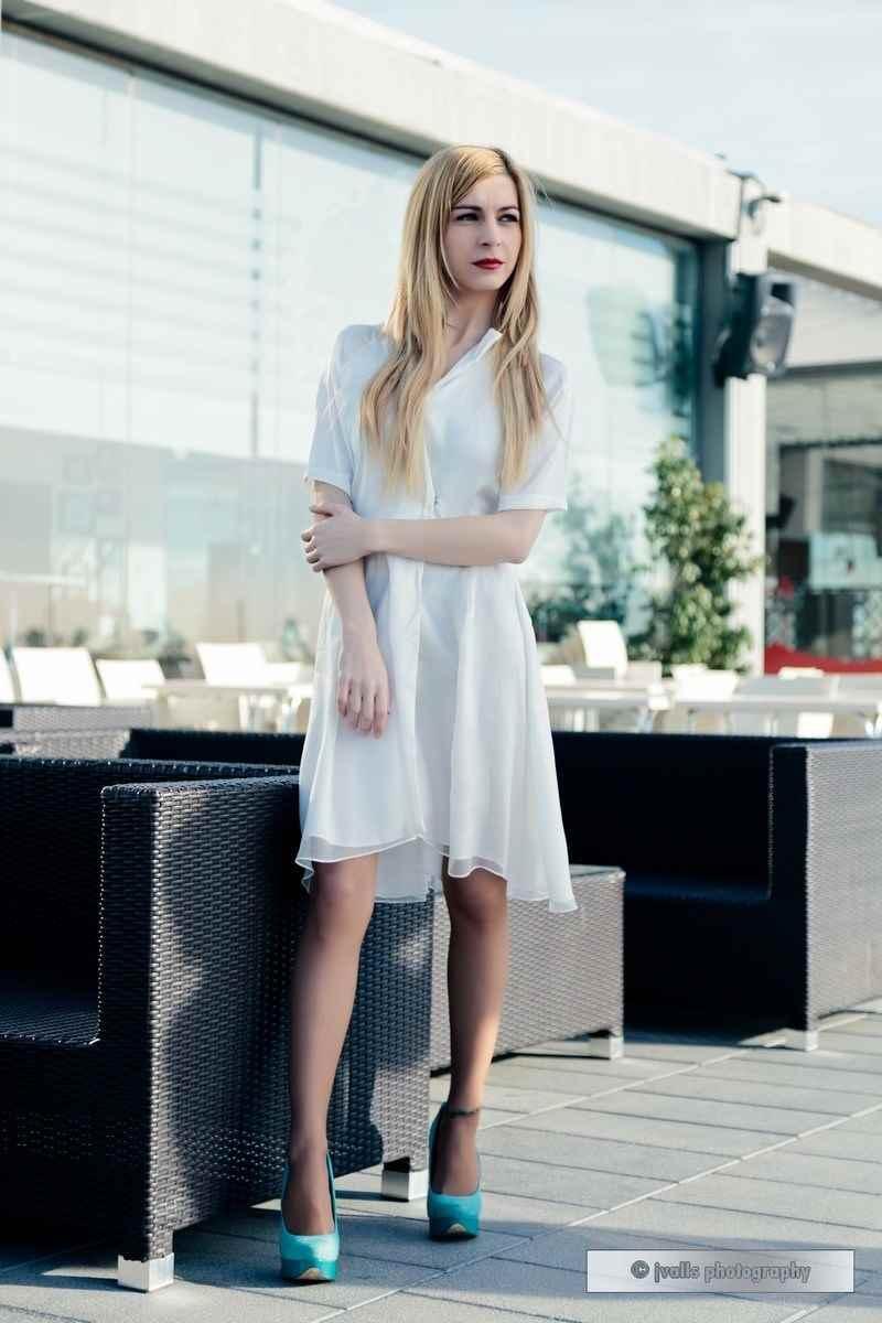Vestido blanco corto Siemprevivas
