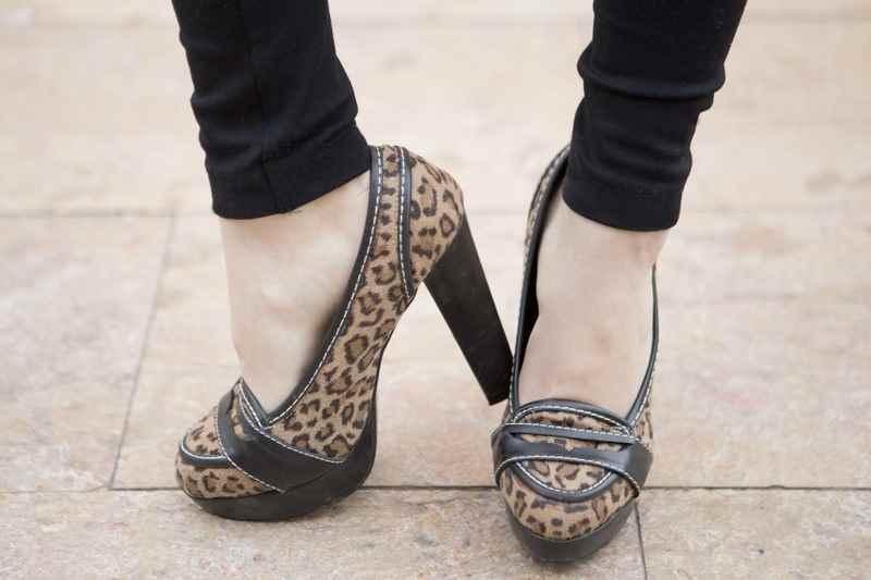 Zapatos animal print plataforma
