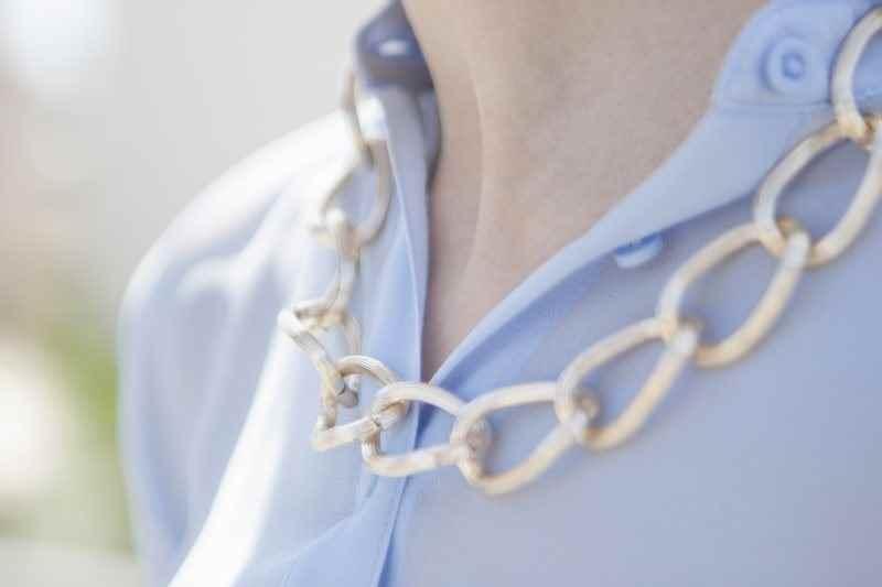 Collar cadena plata