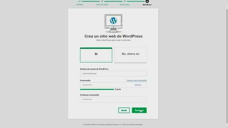 Crear usuario de WordPress
